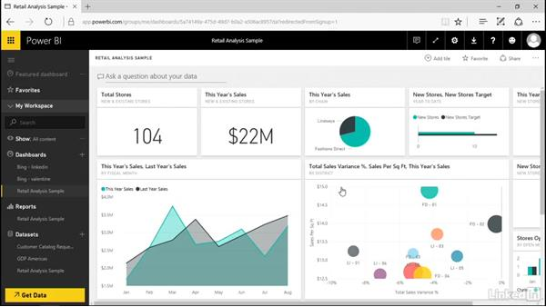Create a new report: Power BI Pro Essential Training
