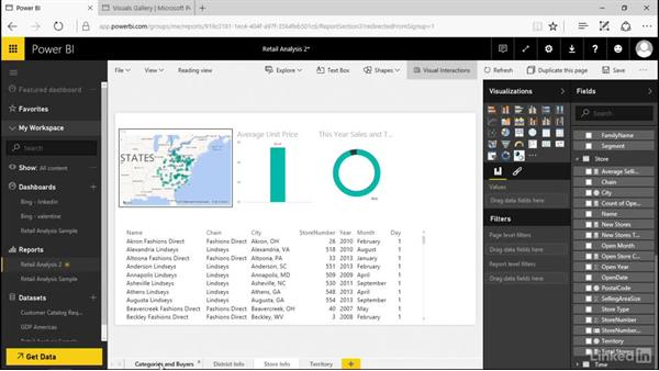 Rename and delete report pages: Power BI Pro Essential Training