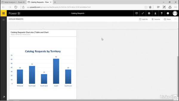 Manage pinned elements in Excel: Power BI Pro Essential Training