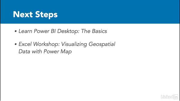 Next steps: Power BI Pro Essential Training