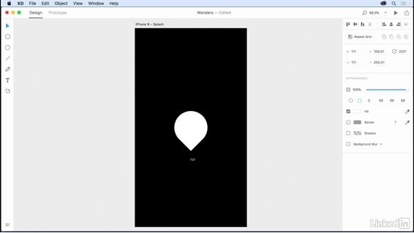 Creating graphics: Design a Mobile App with Adobe XD