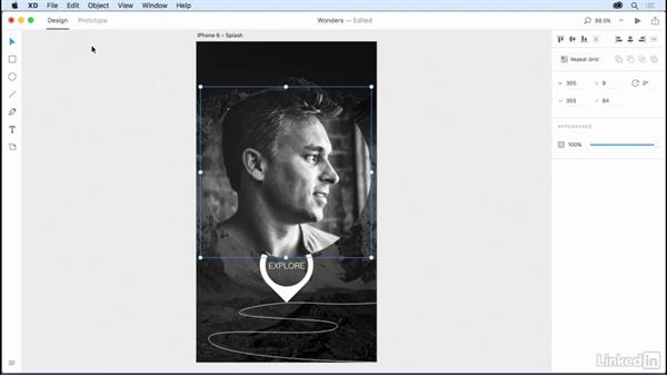 Masking graphics: Design a Mobile App with Adobe XD