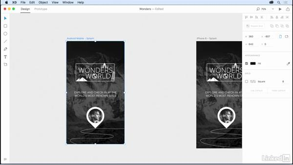 Creating screens for different sizes and platforms: Design a Mobile App with Adobe XD