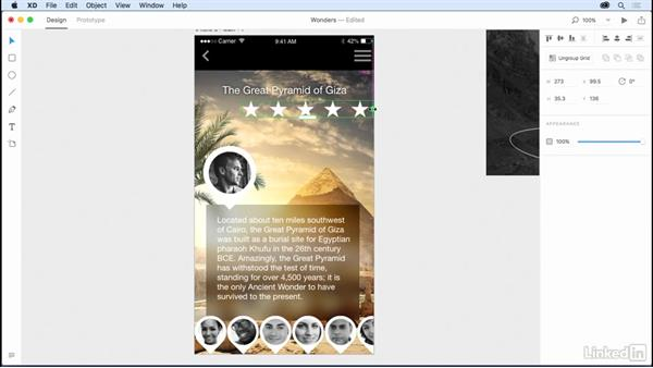 Using Repeat Grid for a ratings system: Design a Mobile App with Adobe XD