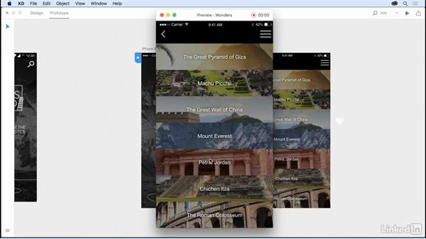 Adding interactions and transitions: Design a Mobile App with Adobe XD