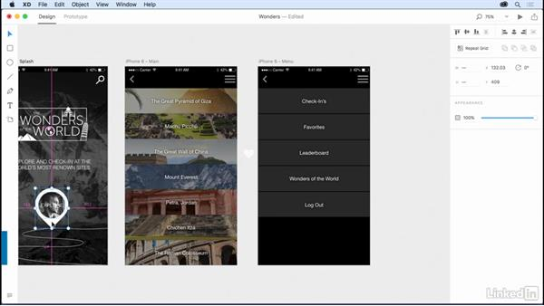 Creating a menu: Design a Mobile App with Adobe XD