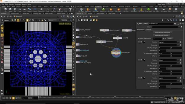 Simulation caching and wire deforming: Houdini: Advanced Motion Graphics