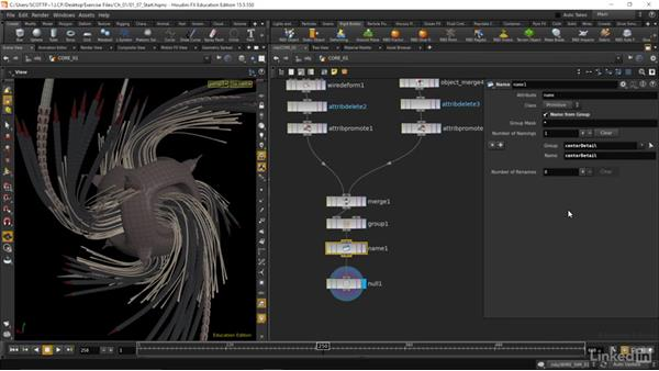 Exporting alembic files of our results: Houdini: Advanced Motion Graphics