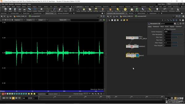 Importing audio files into CHOPS: Houdini: Advanced Motion Graphics