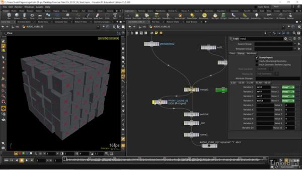 Finalizing our scene: Houdini: Advanced Motion Graphics