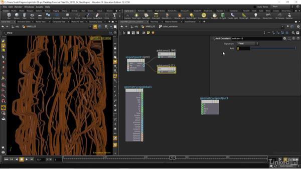 Creating vine geo: Houdini: Advanced Motion Graphics