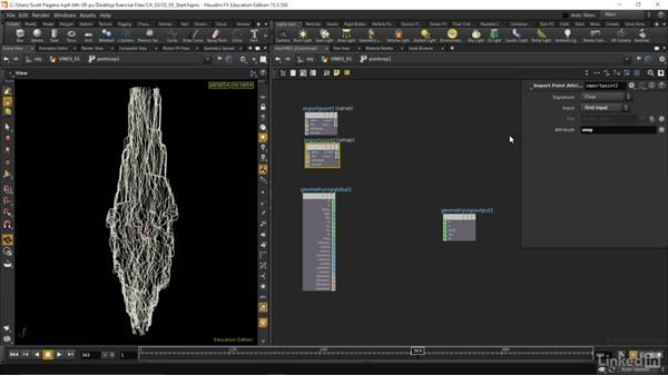Creating attributes for leaf growth: Houdini: Advanced Motion Graphics