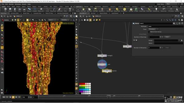 Export our asset as an alembic file: Houdini: Advanced Motion Graphics