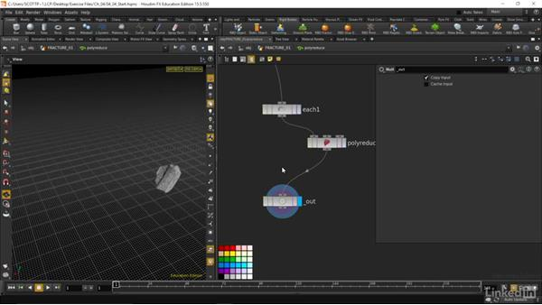 Creating proxy geometry for simulation: Houdini: Advanced Motion Graphics