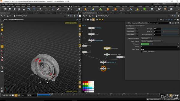 Setting up our dynamic simulation: Houdini: Advanced Motion Graphics