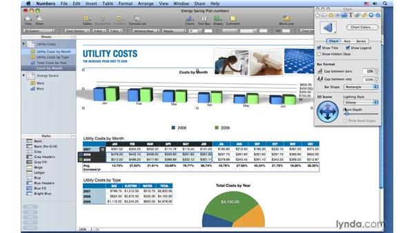 Formatting 3D charts: Numbers '09 Essential Training