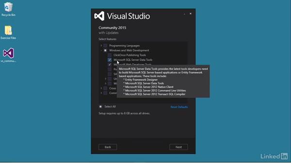 Install the SSDT features: Visual Studio 2015 Essentials 11: Data Tools