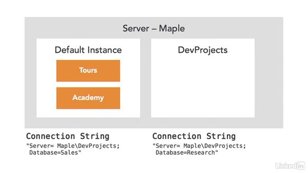 Understand SQL Server named instances: Visual Studio 2015 Essentials 11: Data Tools