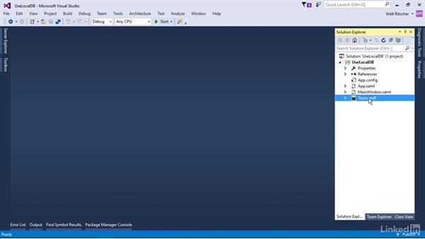 How the LocalDB on-demand feature works: Visual Studio 2015 Essentials 11: Data Tools