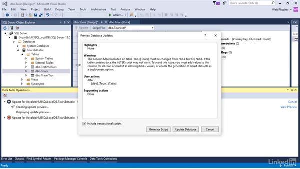 Handling errors in table updates: Visual Studio 2015 Essentials 11: Data Tools