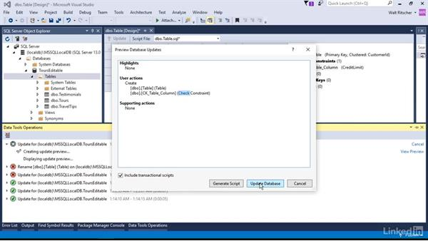 Add and remove tables: Visual Studio 2015 Essentials 11: Data Tools