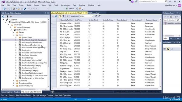 Work with existing Views: Visual Studio 2015 Essentials 11: Data Tools