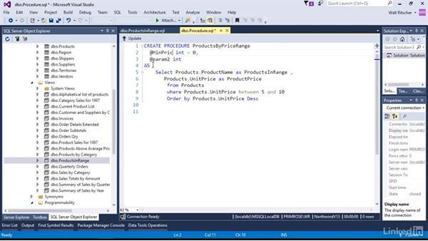 Create a custom Stored Procedure: Visual Studio 2015 Essentials 11: Data Tools