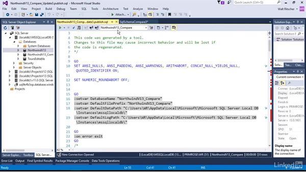 Schema comparison: Visual Studio 2015 Essentials 11: Data Tools