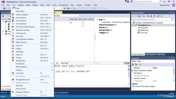 Add items to project: Visual Studio 2015 Essentials 11: Data Tools