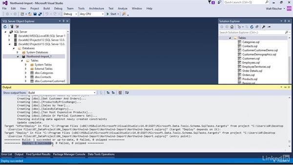 The sandboxed debug database: Visual Studio 2015 Essentials 11: Data Tools