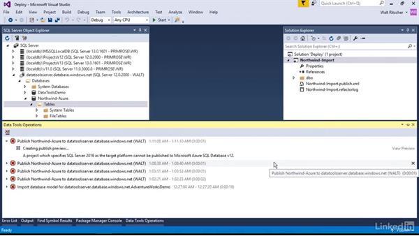 Deploy a Data Project to Azure: Visual Studio 2015 Essentials 11: Data Tools