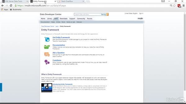 Next steps: Visual Studio 2015 Essentials 11: Data Tools