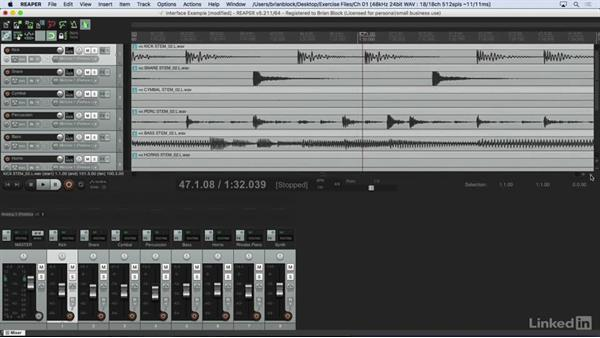 Working with tracks and the transport: Learn REAPER 5: The Basics