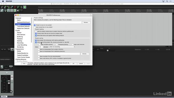 Backing up your project: Learn REAPER 5: The Basics