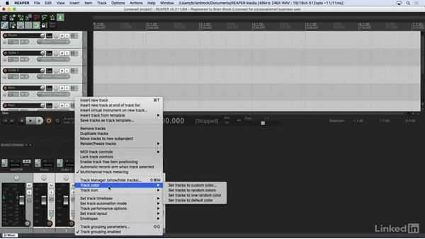 Improving workflow with templates: Learn REAPER 5: The Basics