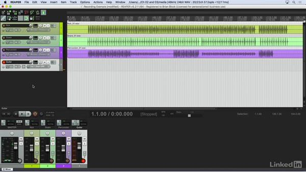 Recording audio: Learn REAPER 5: The Basics