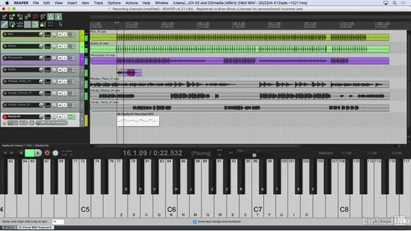 Creating a MIDI performance