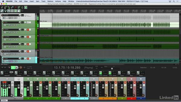 Mixing down: Learn REAPER 5: The Basics