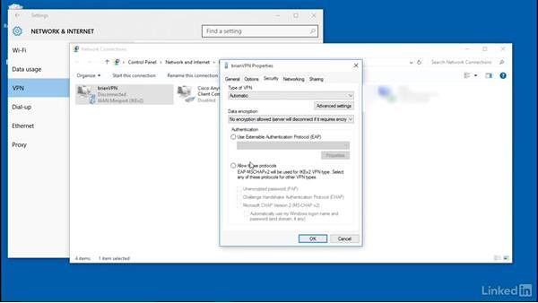 Establish a VPN connection: Windows 10: Manage Remote Access