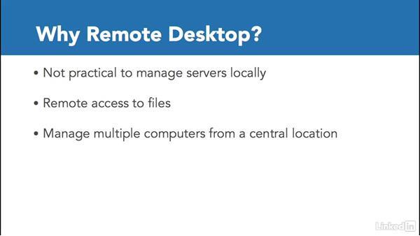 Configure Remote Desktop settings: Windows 10: Manage Remote Access