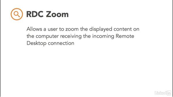 Enable Remote Desktop zoom support: Windows 10: Manage Remote Access