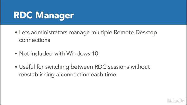 The Remote Desktop Connection Manager