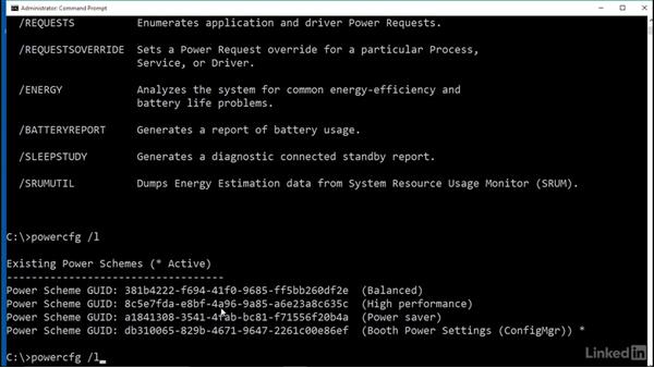 Configure power policies with the command line: Windows 10: Manage Remote Access