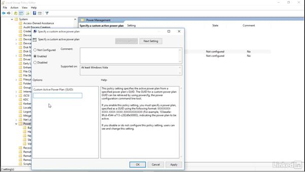 Edit power settings with Group Policy: Windows 10: Manage Remote Access