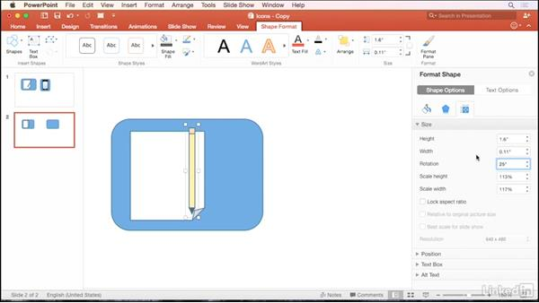 Create custom icons using shapes: PowerPoint for Mac 2016 Tips and Tricks