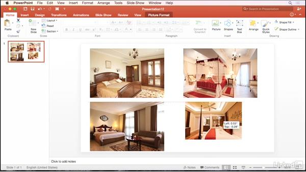 Align and size photos perfectly: PowerPoint for Mac 2016 Tips and Tricks