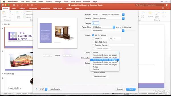 Create handouts: PowerPoint for Mac 2016 Tips and Tricks