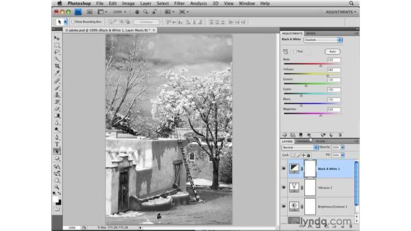Using the new Adjustments panel: Photoshop CS4: Image Adjustments in Depth