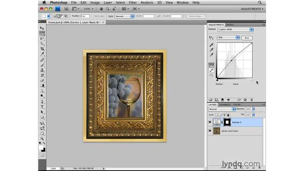 Using selections with adjustment layers: Photoshop CS4: Image Adjustments in Depth