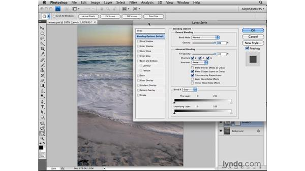 Using the Blend If sliders with adjustment layers: Photoshop CS4: Image Adjustments in Depth